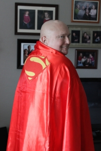 Thank you Marie and John. High quality Superman Cape is in action.
